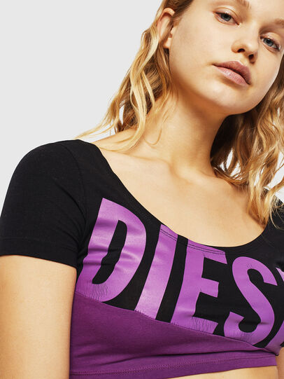 Diesel - UFTEE-CROPSV, Black/Violet - T-Shirts - Image 3