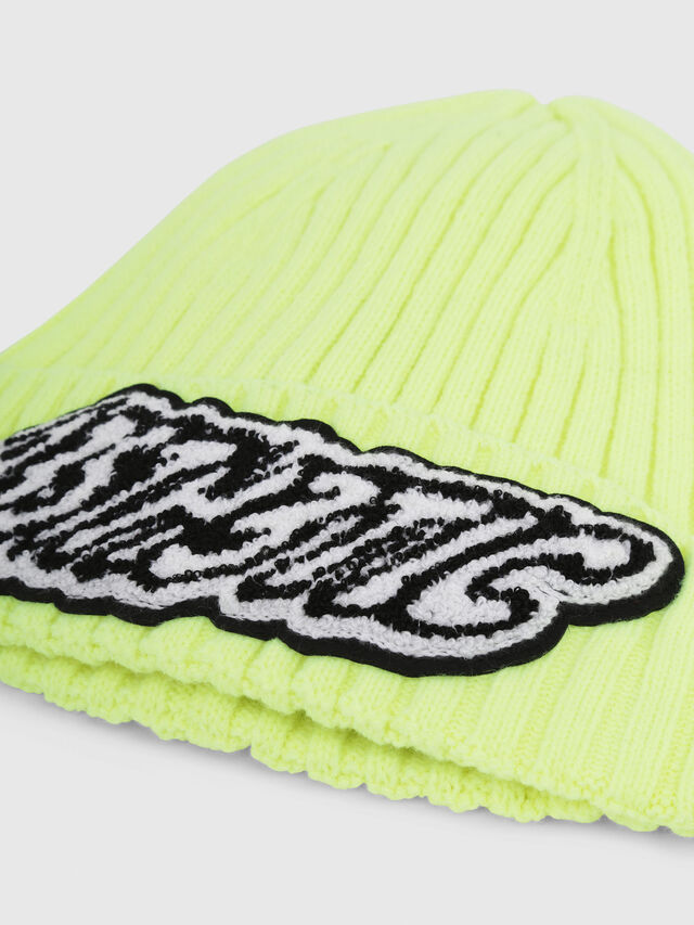 Diesel - K-DIEGO, Yellow Fluo - Knit caps - Image 3