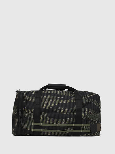 Diesel - M-CAGE DUFFLE M, Black/Green - Travel Bags - Image 2