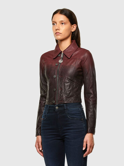 Diesel - L-SHAE, Dark Violet - Leather jackets - Image 7