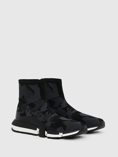 Diesel - H-PADOLA HIGH SOCK, Black - Sneakers - Image 2