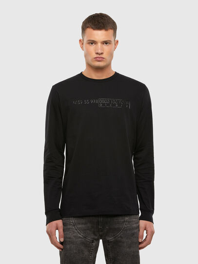 Diesel - T-DIEGOS-LS-X5, Black - T-Shirts - Image 1