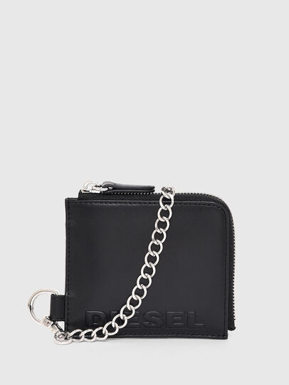 Diesel - L-ZIP CHAIN, Black - Zip-Round Wallets - Image 3