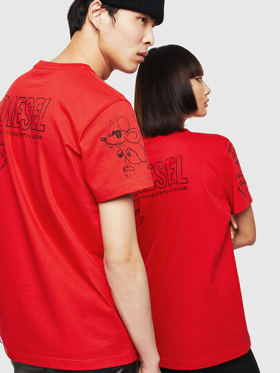 Diesel - CL-T-DIEGO-3, Red - T-Shirts - Image 3