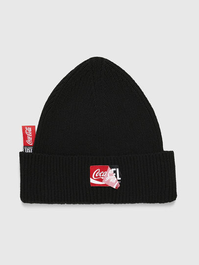 Diesel - CC-BEANY-COLA, Black - Knit caps - Image 1