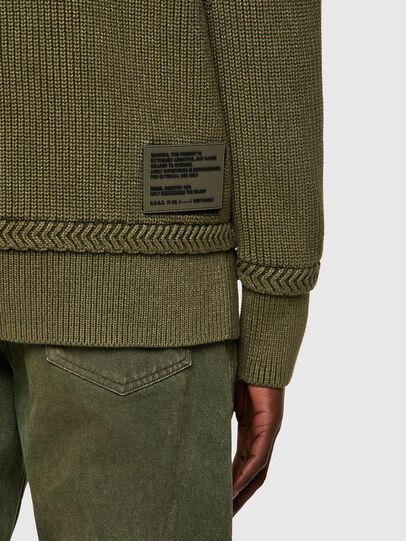 Diesel - K-MAINE, Olive Green - Knitwear - Image 3