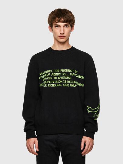 Diesel - K-ONTARIO, Black - Knitwear - Image 1