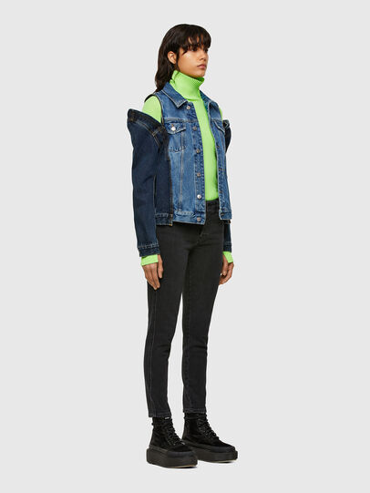 Diesel - DE-WIGG-SP, Medium blue - Denim Jackets - Image 6
