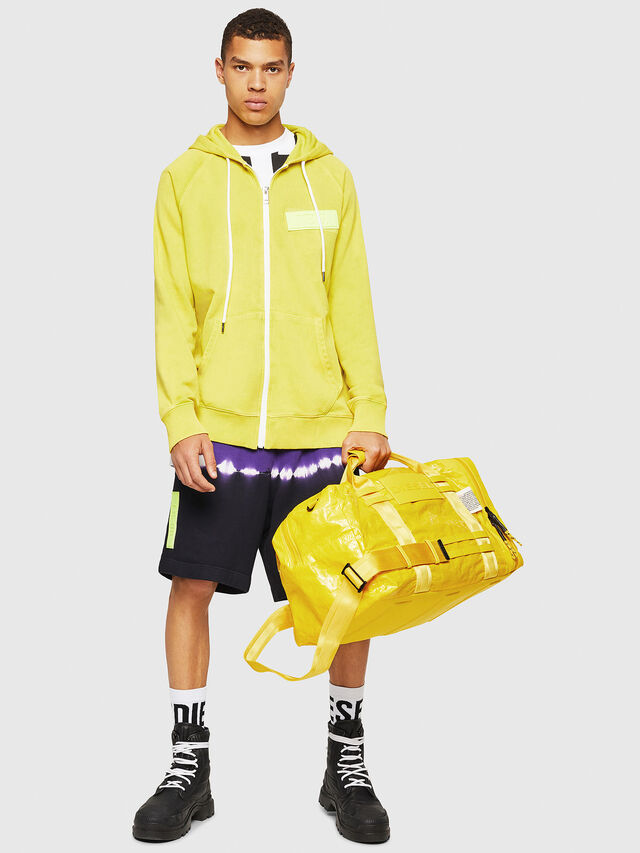 Diesel - M-CAGE DUFFLE M, Yellow - Travel Bags - Image 6