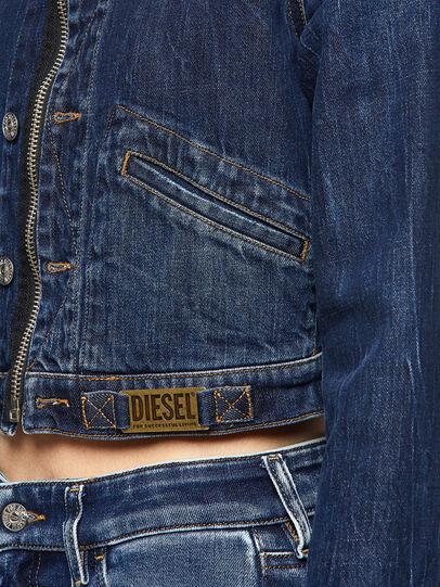 Diesel - DE-BLONDY, Dark Blue - Denim Jackets - Image 3
