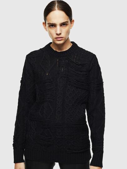 Diesel - K-BRIGLY, Black - Knitwear - Image 2