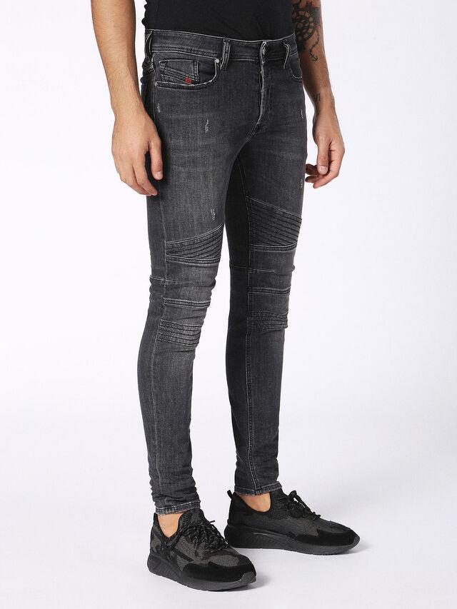 Diesel - Fourk 084NQ, Black/Dark grey - Jeans - Image 3