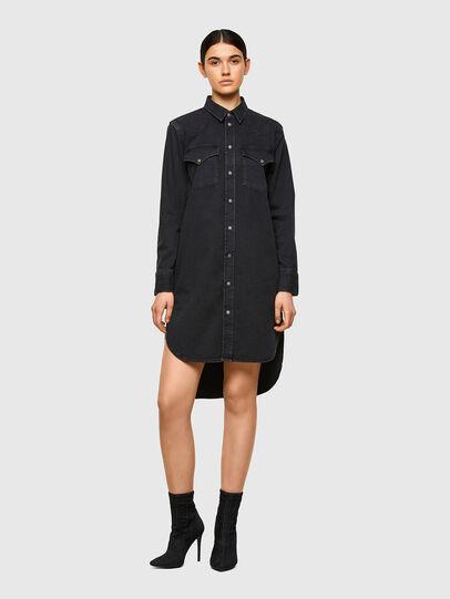 Diesel - DE-BLANCHE, Black - Dresses - Image 1