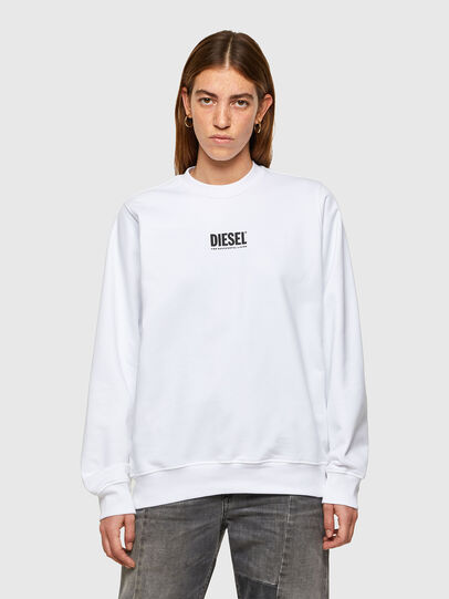 Diesel - F-ANG-SMALLOGO, White - Sweaters - Image 1