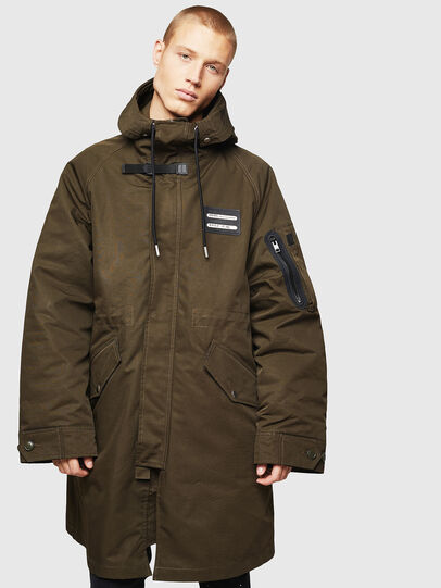 Diesel - W-KOBEC, Military Green - Winter Jackets - Image 1