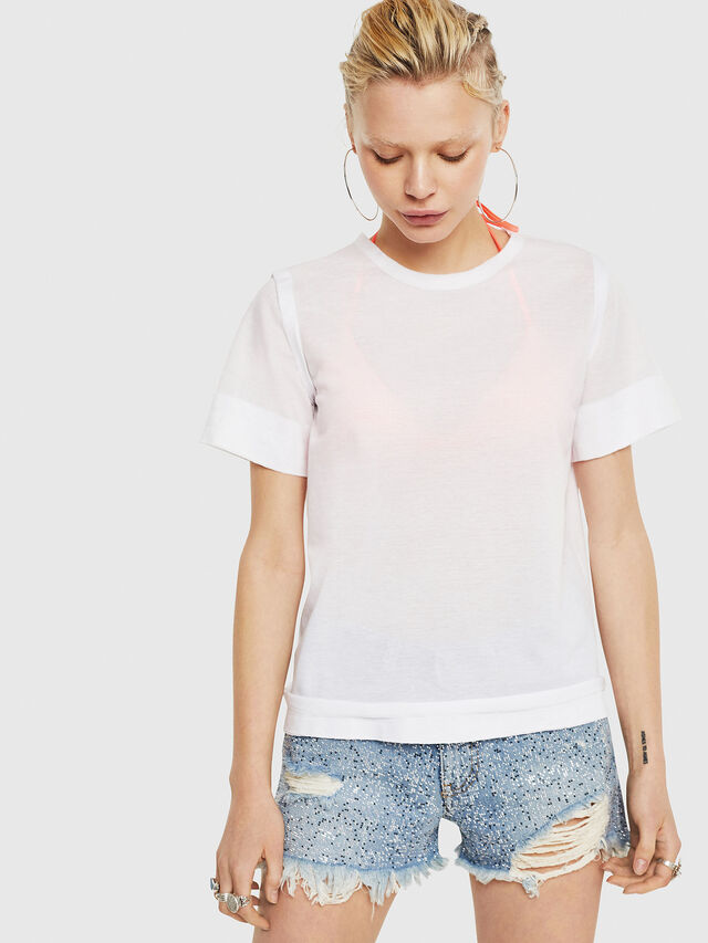 Diesel - T-ROCK-A, White - T-Shirts - Image 1