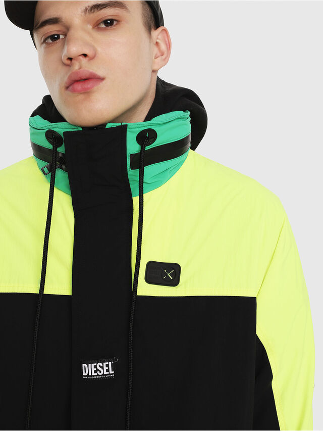 Diesel - J-FUTOSHI, Black/Yellow - Jackets - Image 5