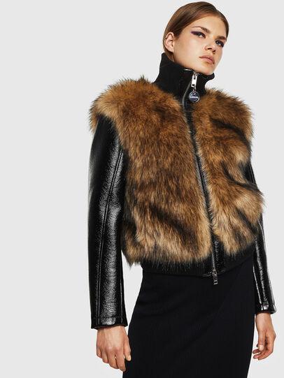 Diesel - L-BURG, Black - Leather jackets - Image 1