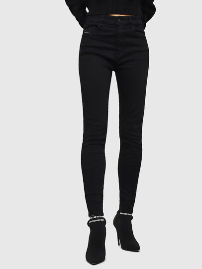 Diesel - Slandy High 069EF, Black/Dark grey - Jeans - Image 1