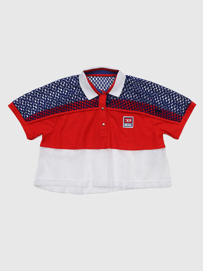 Diesel - TVAITEA, Red/White - T-shirts and Tops - Image 1