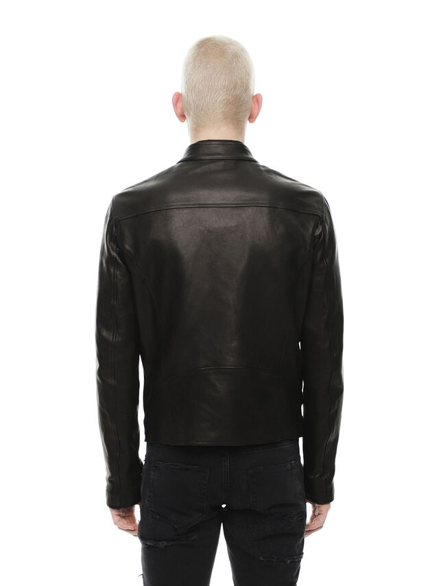 Diesel - LAZING, Black - Leather jackets - Image 2
