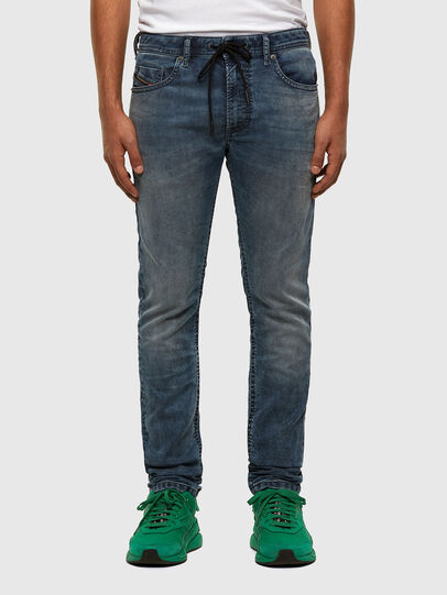 Diesel - Thommer JoggJeans 069NZ, Medium blue - Jeans - Image 1