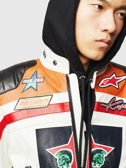 Diesel - ASTARS-LPATCH-1A,  - Leather jackets - Image 6