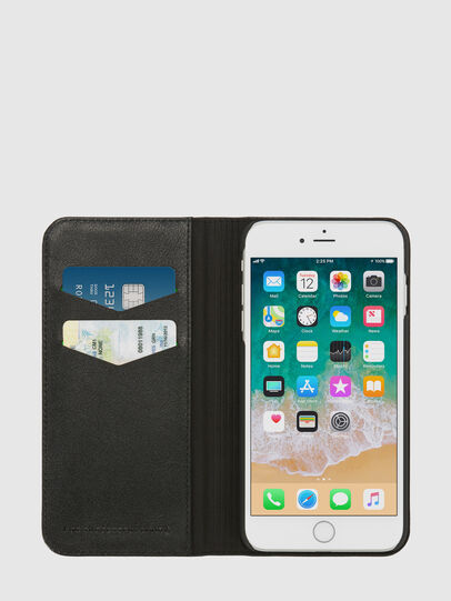Diesel - SLIM LEATHER FOLIO IPHONE 8/7, Black - Flip covers - Image 5