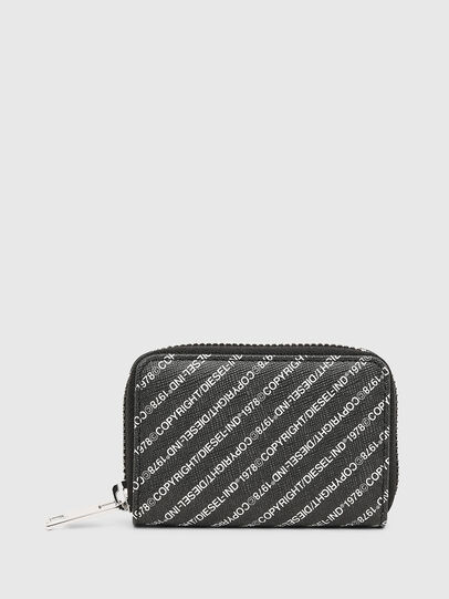 Diesel - JAPAROUND, Black/White - Zip-Round Wallets - Image 1