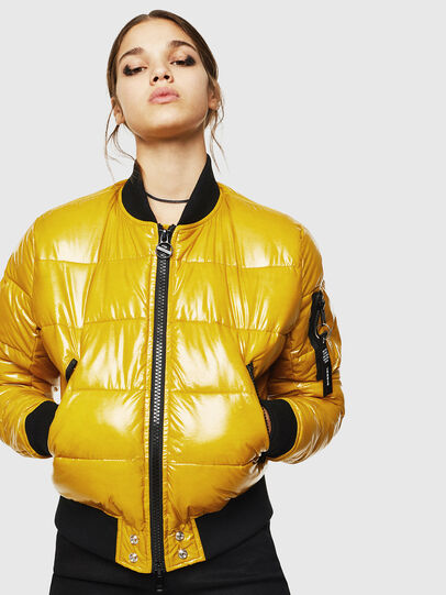 Diesel - W-ONY, Yellow - Winter Jackets - Image 1