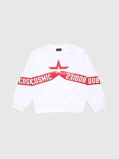 Diesel - SBAYHOLES OVER, White/Red - Sweaters - Image 1