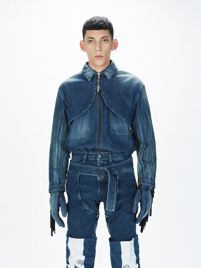Diesel - SOGLV01-KIT, Blue Jeans - Gloves - Image 3
