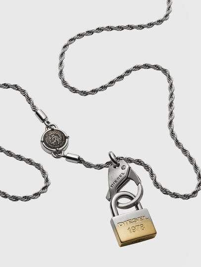 Diesel - DX1203, Silver - Necklaces - Image 2