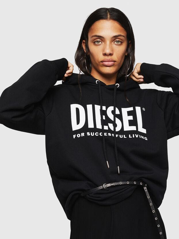 F-GIR-HOOD-DIV-LOGO-, Black - Sweaters