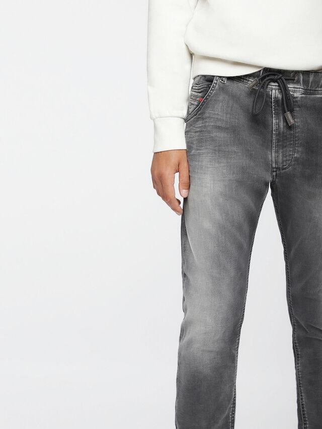 Diesel Krooley JoggJeans 0855B, Light Grey - Jeans - Image 3