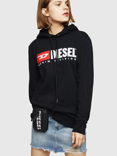 Diesel - F-GIR-HOOD-DIVISION-, Black - Sweaters - Image 1