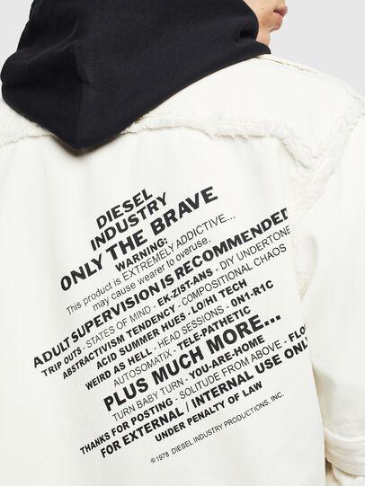 Diesel - D-KURTIS, White - Denim Shirts - Image 8