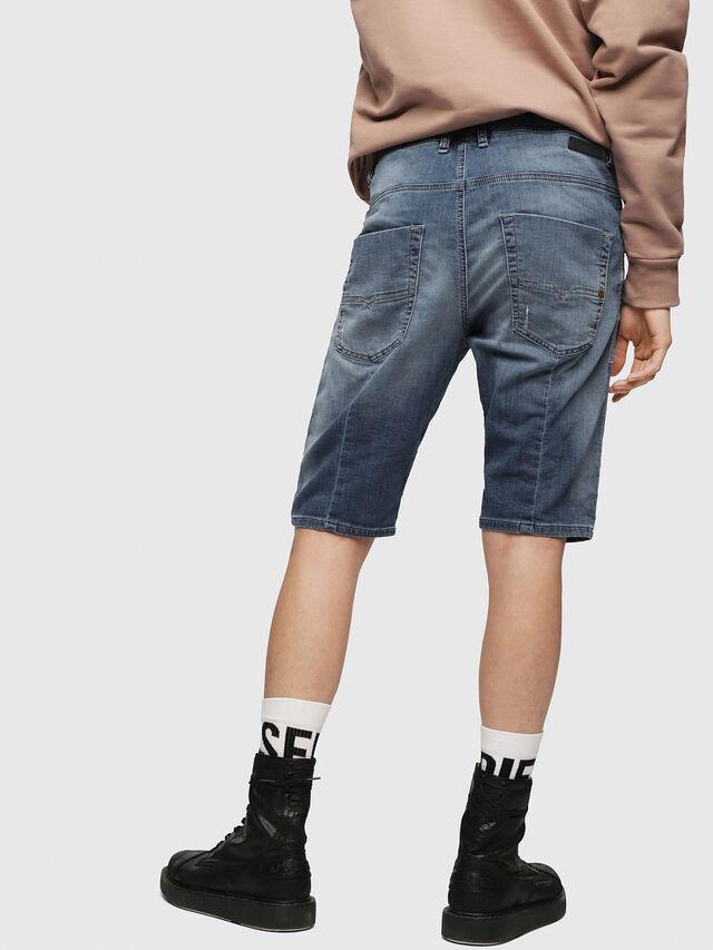 Diesel - KROOSHORT JOGGJEANS, Light Blue - Shorts - Image 2