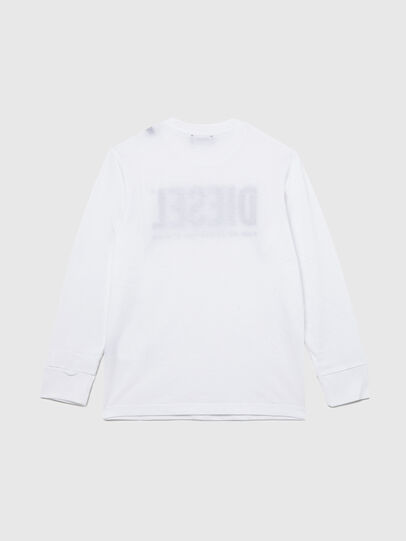 Diesel - TJUSTLOGO ML, White - T-shirts and Tops - Image 2