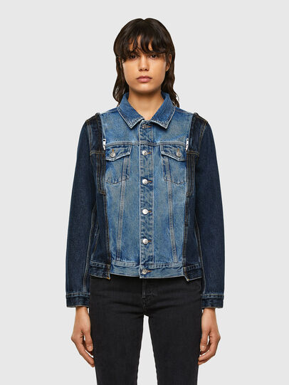 Diesel - DE-WIGG-SP, Medium blue - Denim Jackets - Image 1