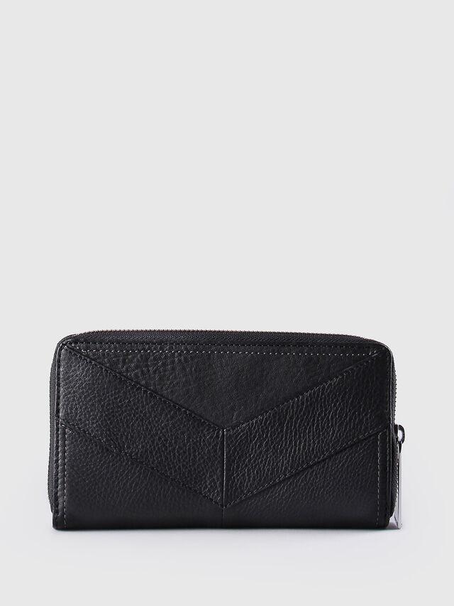 Diesel - GRANATO, Black Leather - Zip-Round Wallets - Image 2