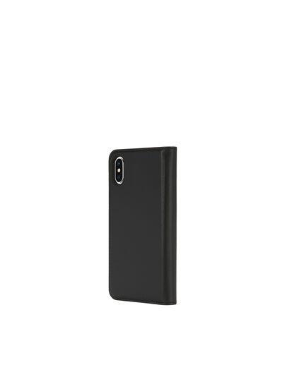 Diesel - SLIM LEATHER FOLIO IPHONE X, Black - Flip covers - Image 5