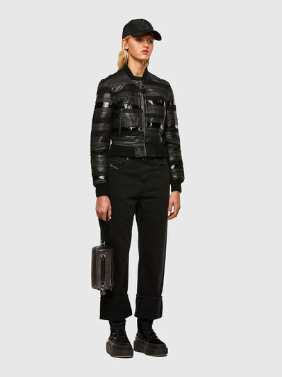 Diesel - L-WALL, Black - Leather jackets - Image 6