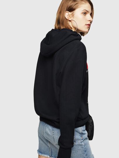 Diesel - F-GIR-HOOD-DIVISION-, Black - Sweaters - Image 2
