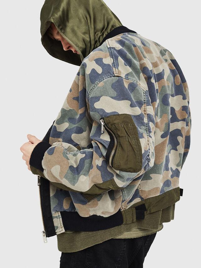 Diesel - D-AZLEY JOGGJEANS, Green Camouflage - Denim Jackets - Image 4