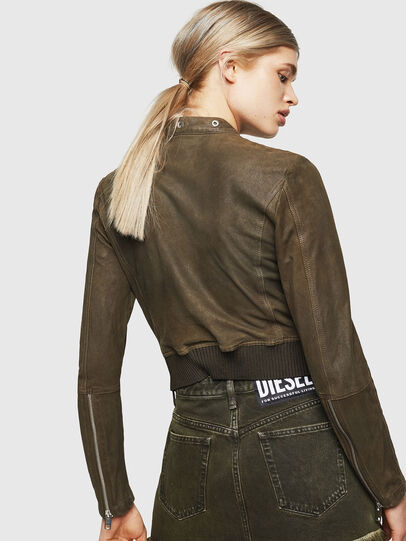 Diesel - L-LYSSA-G, Military Green - Leather jackets - Image 2
