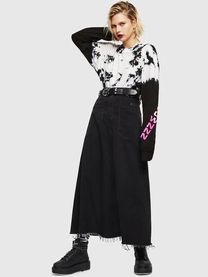 Diesel - D-RHITA JOGGJEANS, Black - Skirts - Image 5