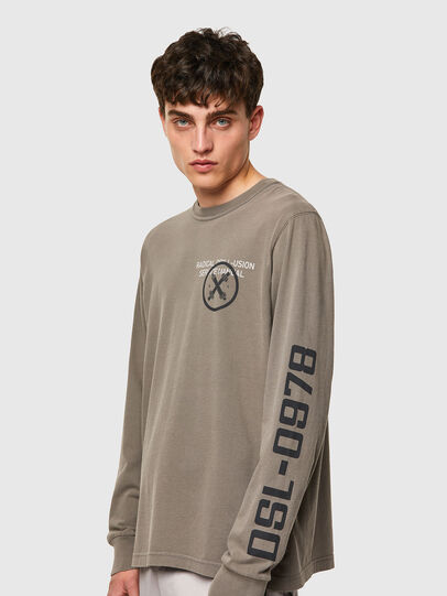 Diesel - T-JUBINDY-LS, Olive Green - T-Shirts - Image 3