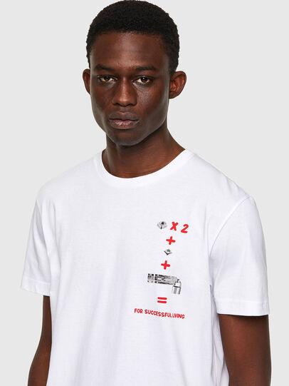 Diesel - T-DIEGOS-B4, White - T-Shirts - Image 3