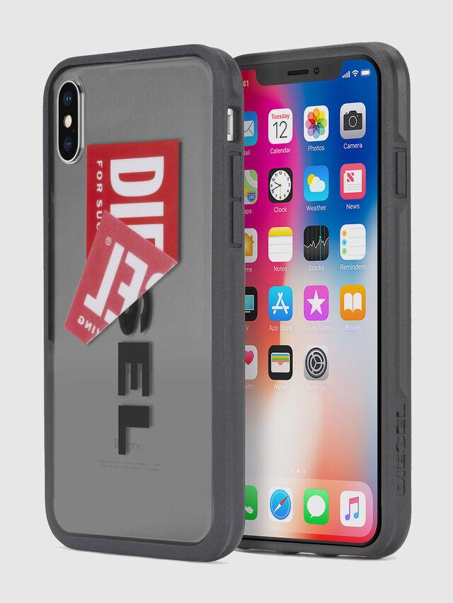 Diesel STICKER IPHONE X CASE, Black - Cases - Image 1